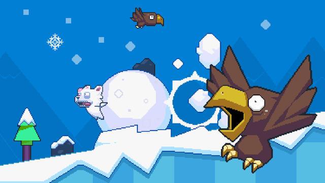看着北极熊的紧张表情,游戏虽然玩起来单调,却也十分刺激有趣.